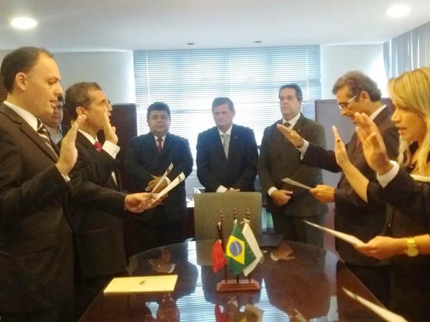 Posso aconteceu na tarde desta sexta-feira (1º) na sede da OAB-PB, em João Pessoa (Foto: Valéria Sinésio/Jornal da Paraíba)