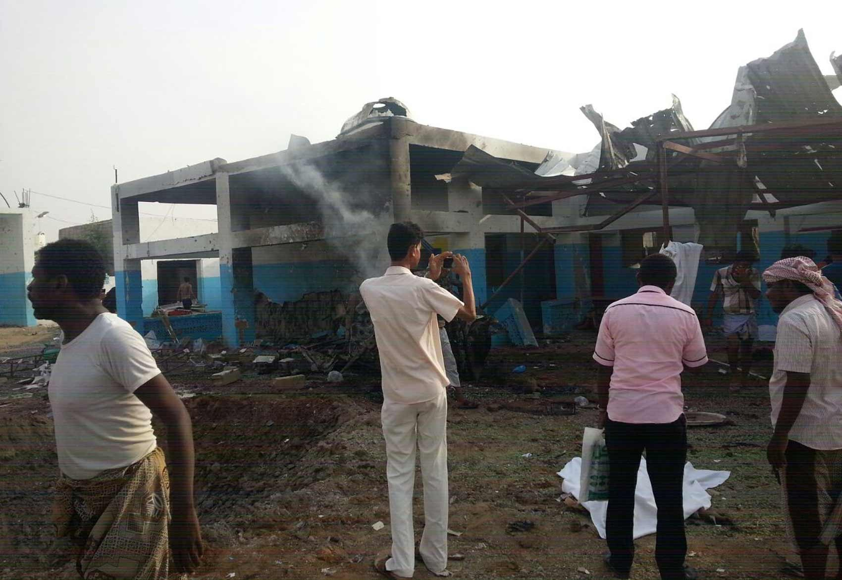 Hospital atacado no Iêmen (Foto: Médicos Sem Fronteiras)