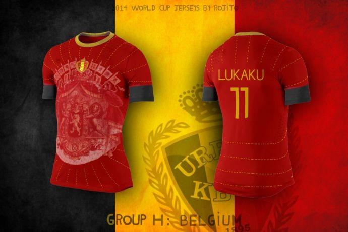 Blog da Copa - design camisa da Bélgica