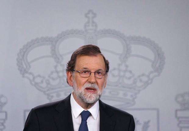 O primeiro-ministro espanhol Mariano Rajoy quer explicações sobre a independência da Catalunha (Foto: Pablo Blazquez Dominguez/Getty Images)