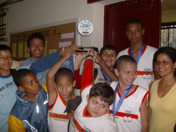 Xadrez na escola Benjamin Constant (RJ) (Foto: Divulgação)