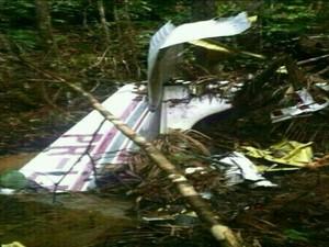 GNews - Bimotor encontrado no Pará (Foto: globonews)