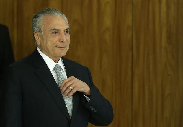 O presidente Michel Temer se prepara para fazer pronunciamento oficial no qual se nega a renunciar (Foto: Valter Campanato/Agência Brasil)