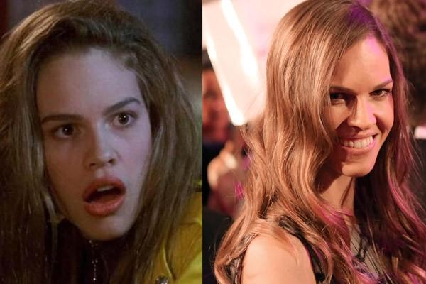 Mais uma da série de atrizes que começaram como patricinhas nas telas: Hilary Swank iniciou sua carreira no cinema interpretando uma das amigas riquinhas de Buffy em 'Buffy – A Caça-Vampiros'. Atualmente Hilary é uma estrela consagrada e já ganhou o Oscar de melhor atriz duas vezes. (Foto: Divulgação e Wikimedia/Manfred Werner)