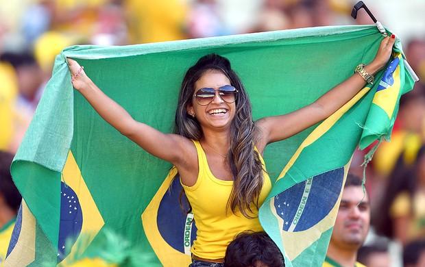 torcida Brasil Castelão jogo (Foto: Getty Images)