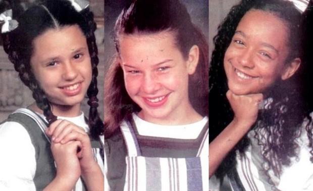 Francis Helena, Fernanda Souza e Aretha Oliveira nos tempos de Chiquititas (Foto: Reprodução)