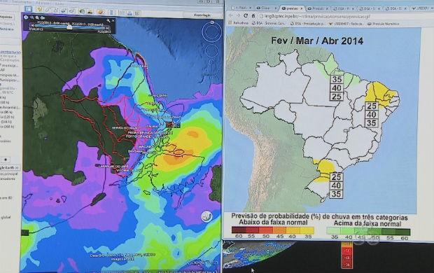 Meteorologia prevê chuvas prolongadas durante o carnaval 2014 (Foto: Reprodução/TV Amapá)