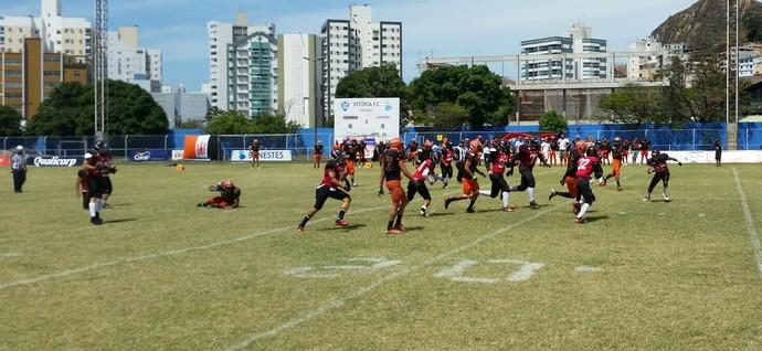 Torneio Touchdown 2014: Vitória Antares x Vila Velha Tritões (Foto: Sidney Magno Novo/GloboEsporte.com)