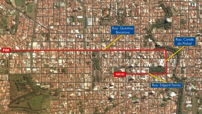 Mapa tour da tocha Jaú (Foto: Arte / Clayton Esteves)