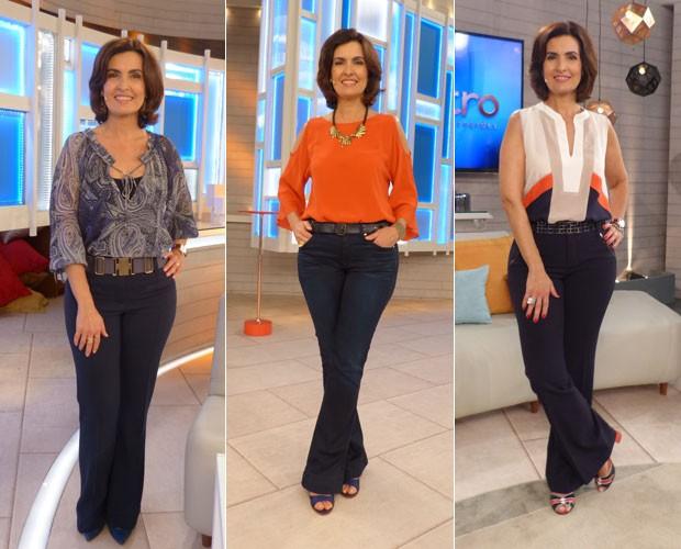Camila Coutinho analisa looks de Fátima Bernardes (Foto: Gshow/Encontro com Fátima)