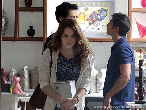 Anita fica impressionada com o garoto e não consegue tirá-lo da cabeça  (Foto: (Foto: Malhação / TV Globo))