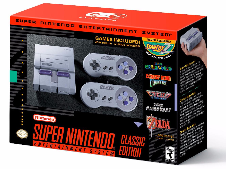 O novo Super Nintendo com alguns de seus jogos clássicos (Foto: Divulgação)