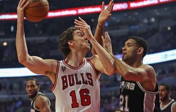 Defesa do Chicago Bulls aparece para garantir a vitória sobre os Spurs