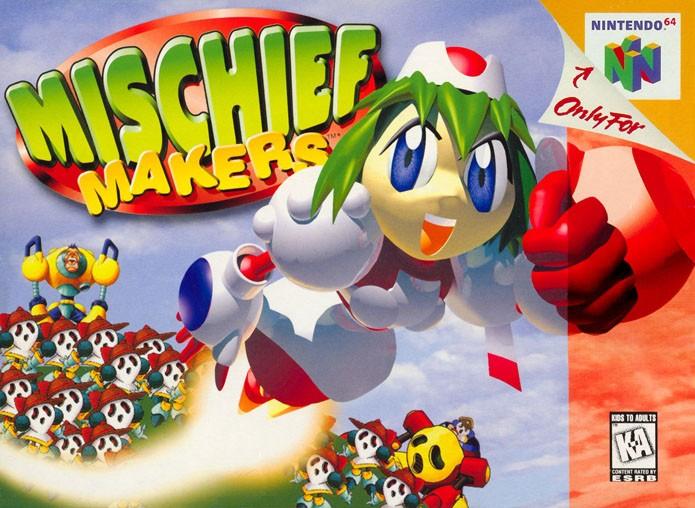 Mischief Makers se destacou em 2D em meio a outros jogos 3D (Foto: Reprodução/GamesDBase)