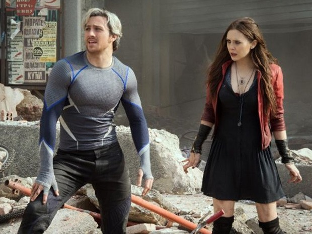 Aaron Taylor-Johnson e Elizabeth Olsen em 'Vingadores: Era de Ultron' (Foto: Divulgação)