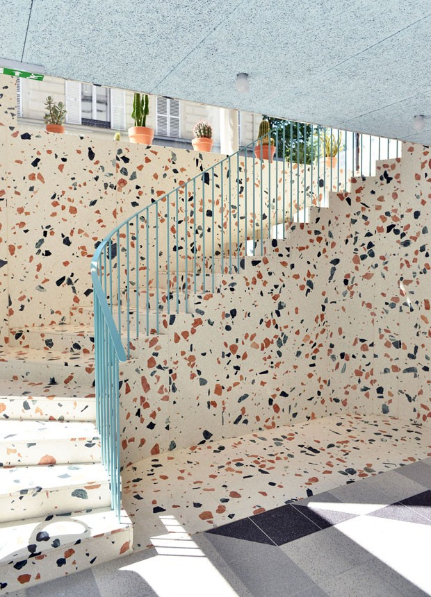 O revestimento marmorite está de volta (Foto: divulgação)