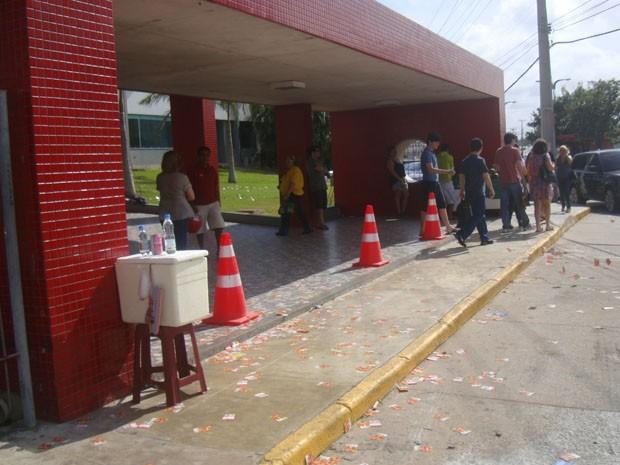 Movimentação tranquila em uma das seções de votação na capital maranhense. (Foto: João Ricardo/G1)
