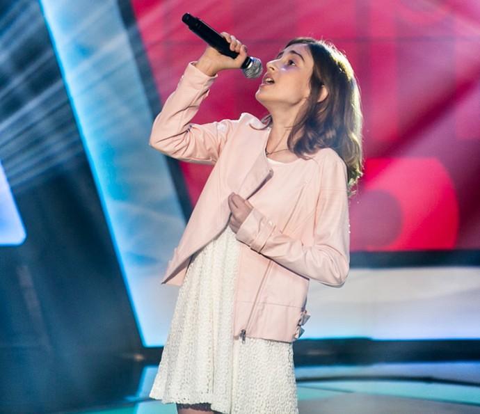 Luna Bandeira solta a voz nas Audições do The Voice Kids (Foto: Isabella Pinheiro/Gshow)
