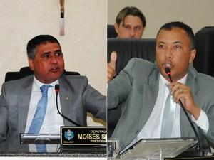 Moisés Souza (à esquerda) e Jaime Perez serão denunciado na Alap (Foto: Jaciguara Cruz/Decom/Alap)