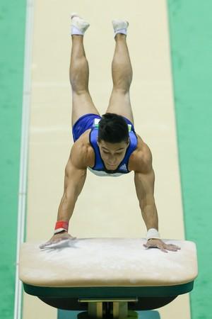 Sérgio Sasaki no evento-teste (Foto: Ricardo Bufolin/CBG)