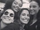 Tainá Müller, Juliana Alves, Camila Pitanga e Paolla Oliveira posam juntas