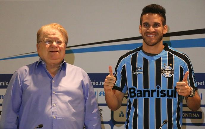 marcelo oliveira grêmio lateral apresentação arena (Foto: Eduardo Deconto/GloboEsporte.com)