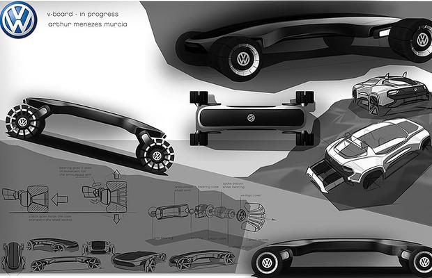 V-Board, conceito apresentado no VW Talento Design (Foto: Divulgação)