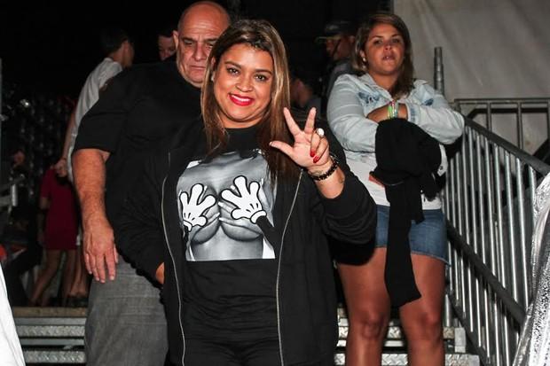 Preta Gil no show de Ivete Sangalo, no Guarujá (Foto: Manuela Scarpa / PhotoRioNews)
