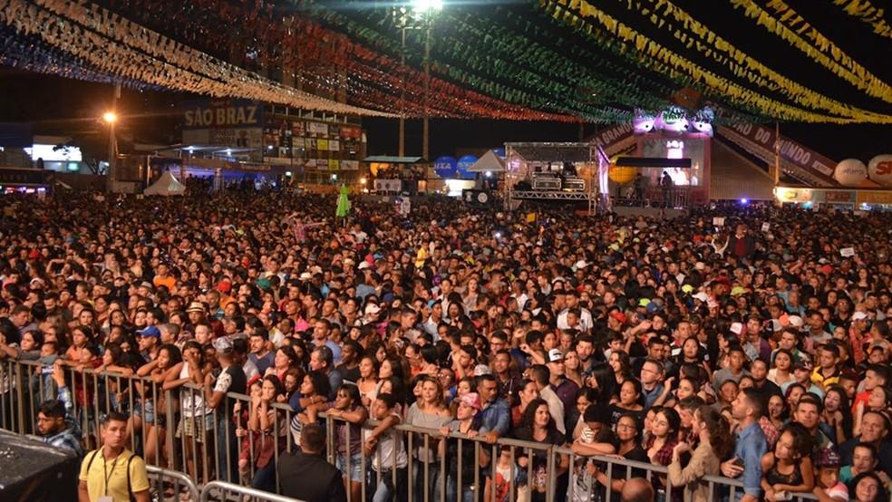 Show de Marília Mendonça lotou e entradas do Parque do Povo tiveram que ser fechadas (Foto: Kamylla Lima/G1)