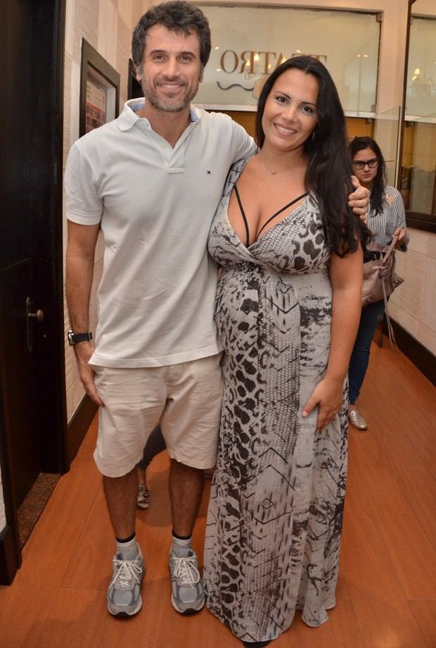 Eriberto Leão e a mulher, Andréa Leal (Foto: Webert Belicio / AgNews)