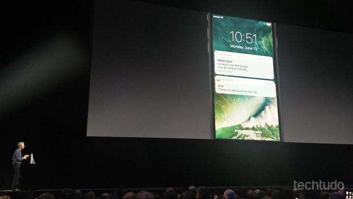 Notificações no iOS 10 (Foto: Fabrício Vitorino/TechTudo)