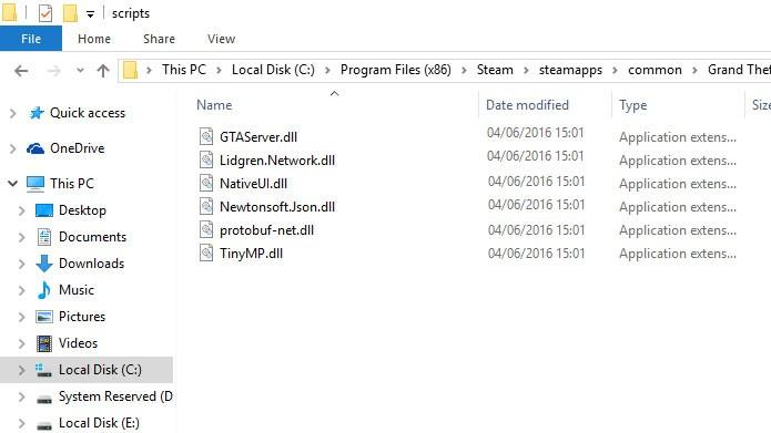Extraia os arquivos da pasta client do mod para a pasta scripts (Foto: Reprodução/Tais Carvalho)
