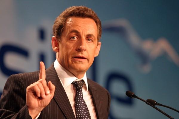 Nicolas Sarkozy durante a campanha eleitoral que culminou na sua vitória como o 23º Presidente da França (Foto: Getty Images)
