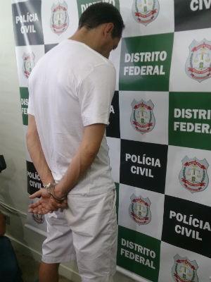 Edrísio Guedes Junior, 42 anos, suspeito de vender falsos seguros de vida no Lago Norte (Foto: Mateus Rodrigues/G1)