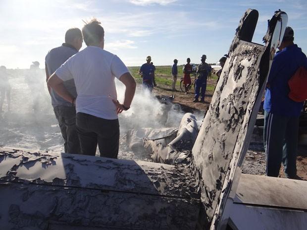 piloto morre em queda de avião no oeste da Bahia; avião cai; queda avisão; luis eduardo magalhães (Foto: Sivi Vilares / Divulgação)