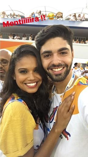Aline Dias e o namorado Rafael Cupello (Foto: Reprodução / Instagram)