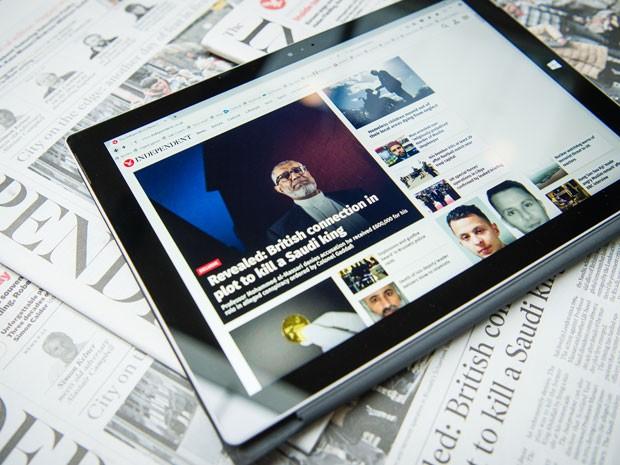 Versão impressa do Independent será substituída pela digital. (Foto: France Presse)