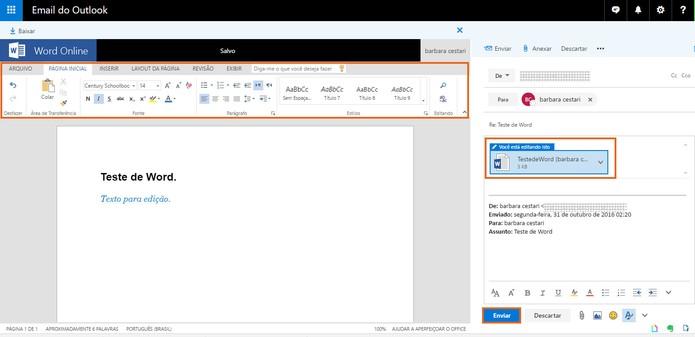 Edite o documento pelo Word online (Foto: Reprodução/Barbara Mannara)