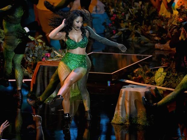 Nicki Minaj se apresenta no VMA (Foto: Michael Buckner/ Getty Images/ AFP)