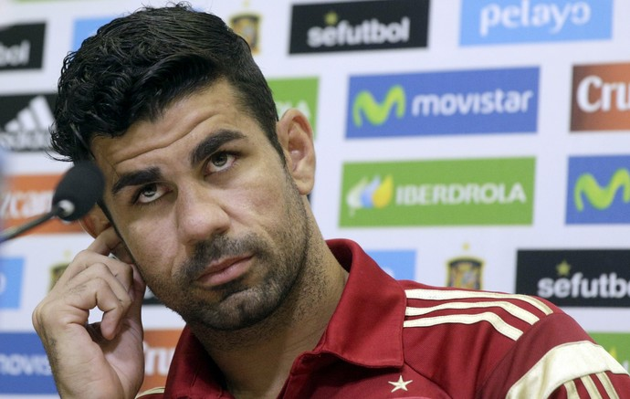 Diego Costa Espanha entrevista coletiva (Foto: Andrea Comas / Reuters)