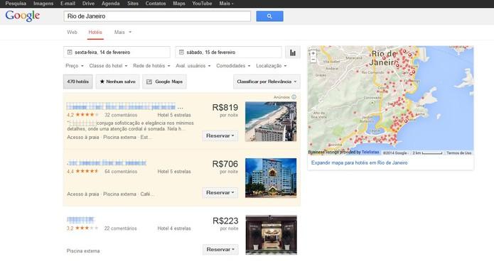 Google Hotel Finder (Foto: Reprodução/Barbara Mannara)