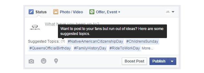 Screenshot mostra sugestão do Facebook em publicação do usuário (Foto: Reprodução/ SocialTimes) (Foto: Screenshot mostra sugestão do Facebook em publicação do usuário (Foto: Reprodução/ SocialTimes))