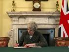 Reino Unido formaliza saída da União Europeia