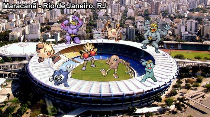 Pokémons Lutadores se reúnem em estádios e academias em Pokémon Go de uma forma que faz bastante sentido (Foto: Reprodução/Rafael Monteiro)