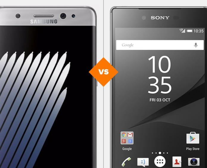 Galaxy Note 7 ou Xperia Z5 Premium: veja diferenças de preço e ficha técnica  (Foto: Arte/TechTudo)