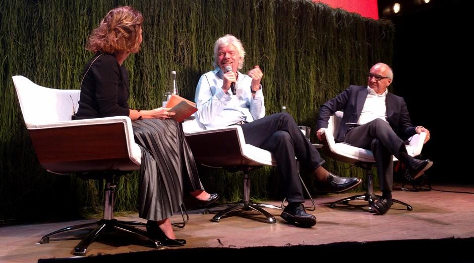 Da esquerda para a direita Andrea Alvares, Richard Branson e Guilherme Leal (Foto: Adriano Lira)