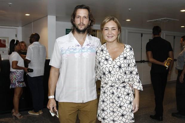Vladimir Brichta e Adriana Esteves  (Foto: Alex Palarea / AgNews)