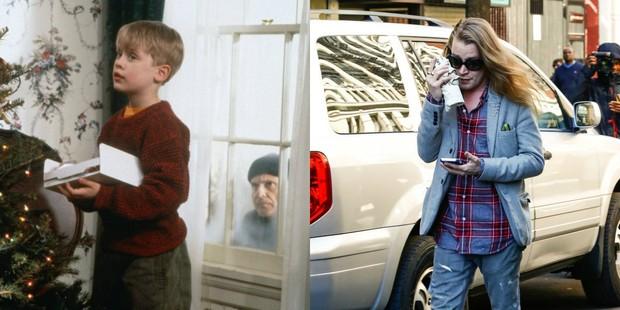 Macaulay Culkin em Esqueceram de Mim e hoje (Foto: Divulgação 20th Century Fox | AKM-GSI/ Agência)