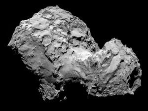 Foto de 3 de agosto feita pela sonda Rosetta mostra o cometa 67P/Churyumov-Gerasimenko a 285 km de distância (Foto: ESA/Rosetta/MPS for OSIRIS Team / AFP)