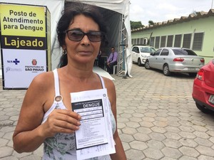 Severina da Silva foi fazer exame (Foto: Paula Paiva Paulo/G1)